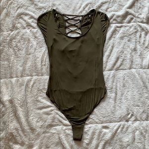 Free People Lace-Up Bodysuit